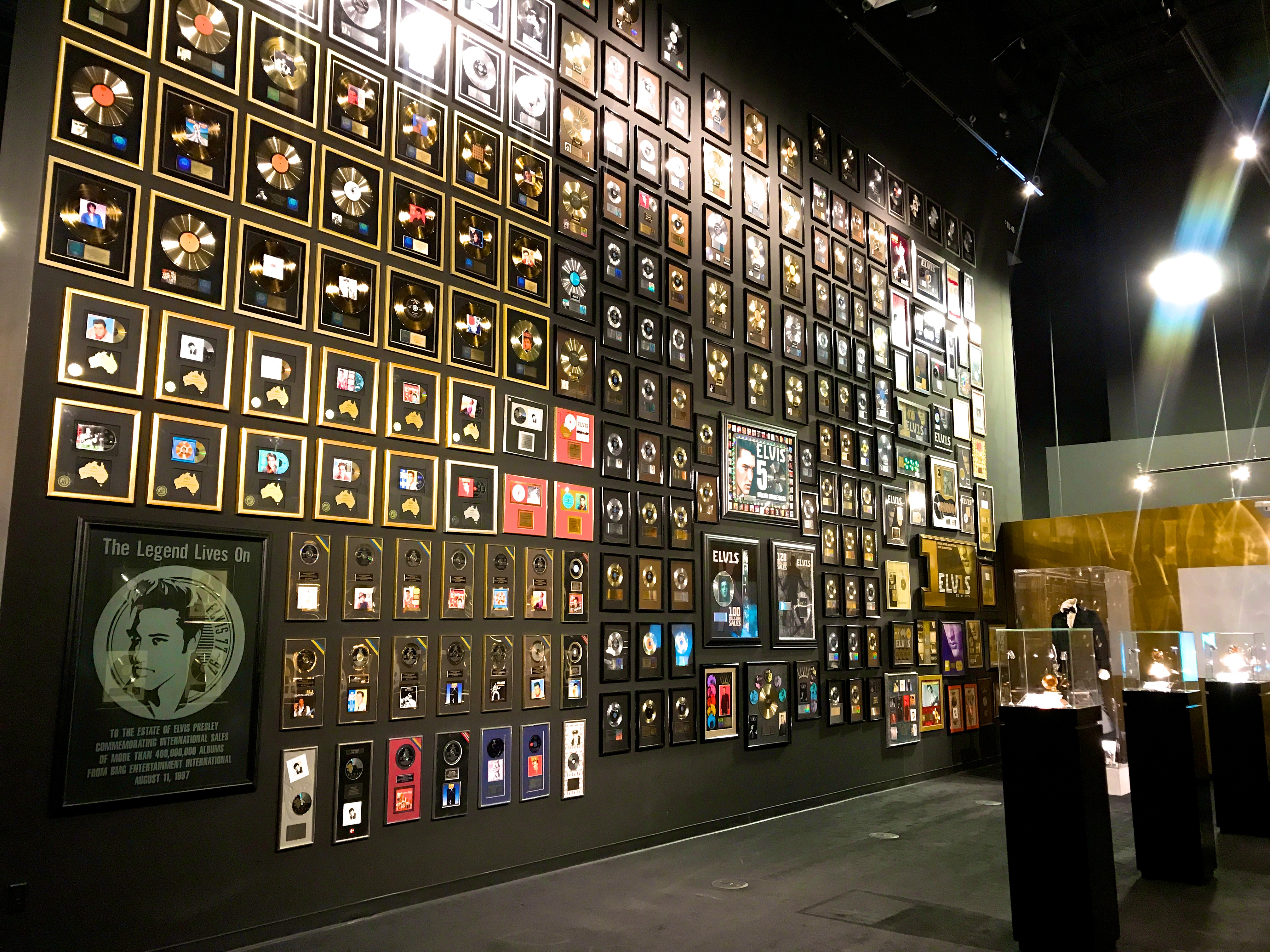 Elvis wall of records