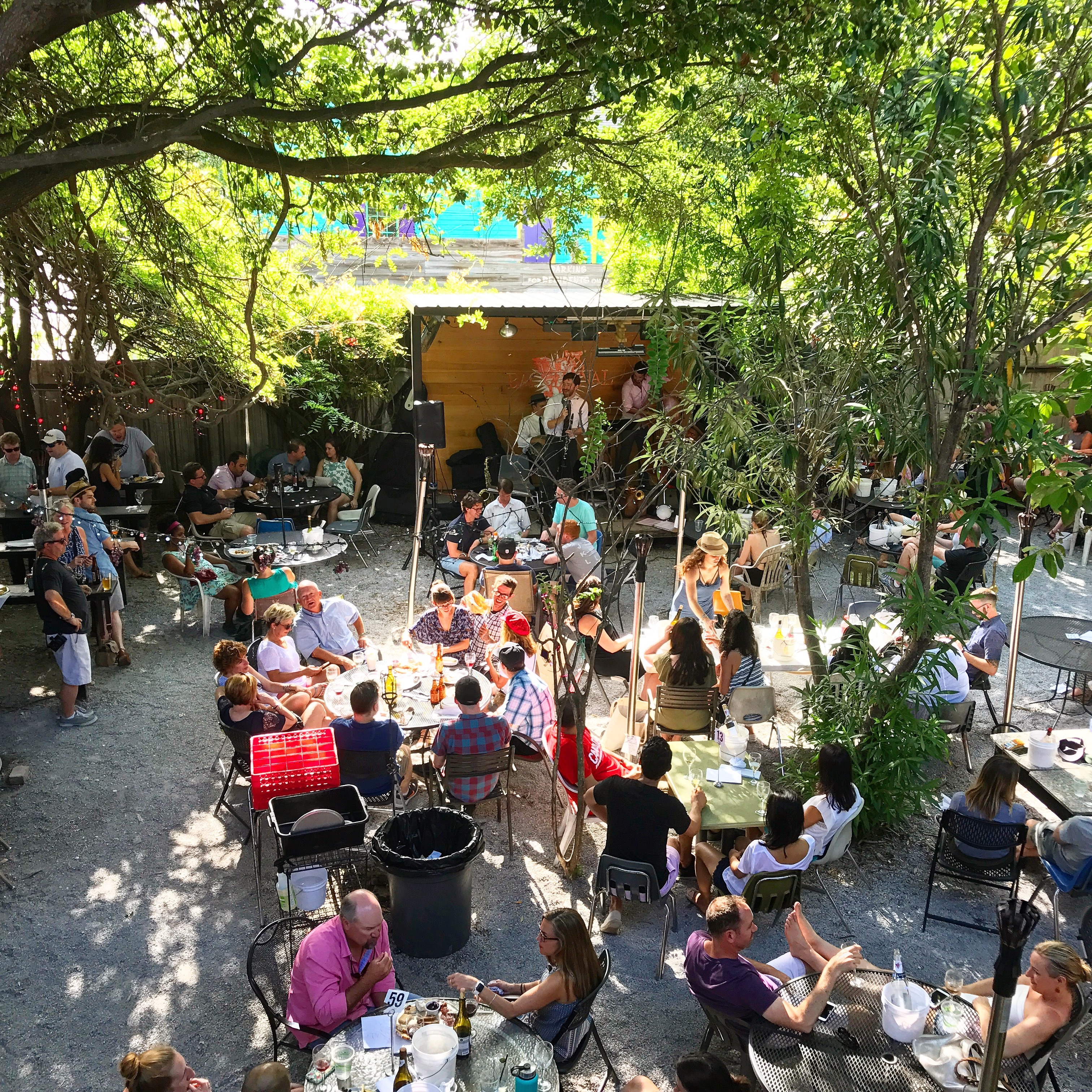 Afternoon jazz at Bacchanal, New Orleans