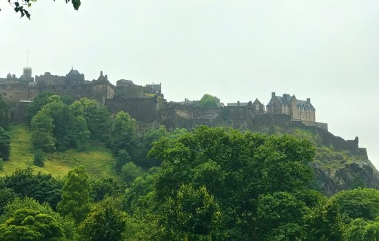 Edinburgh Castle from afar