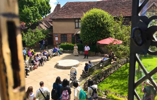 People reciting Shakespeare at Shakespeare's Birthplace