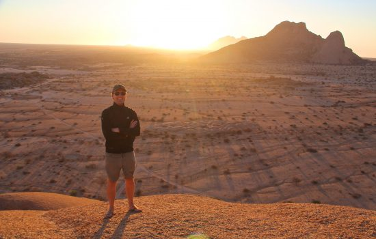 Stephen and the Spitzkoppe sunset